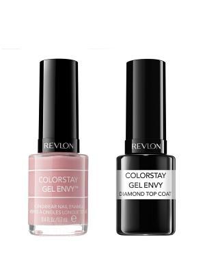Revlon Набор: 005 гель-лак colorstay gel envy cardshark 040-100 + верхнее покрытие  co. Цвет: розовый