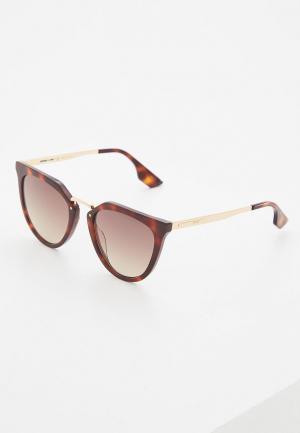 Очки солнцезащитные McQ. Цвет: коричневый