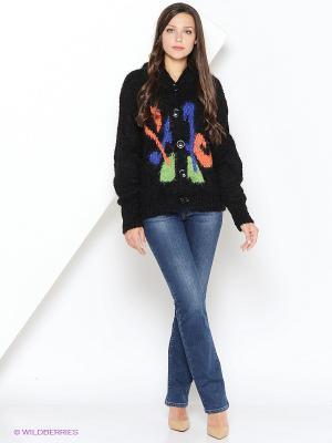 Кардиган MARY MEA. Цвет: черный, синий, зеленый, оранжевый