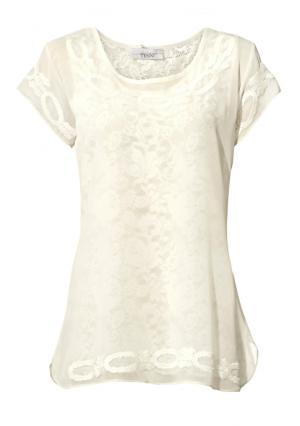 Комплект: блузка + топ Linea Tesini. Цвет: кремовый