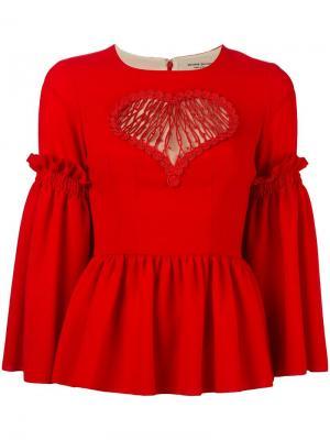 Расклешенная блузка Piccione.Piccione. Цвет: красный