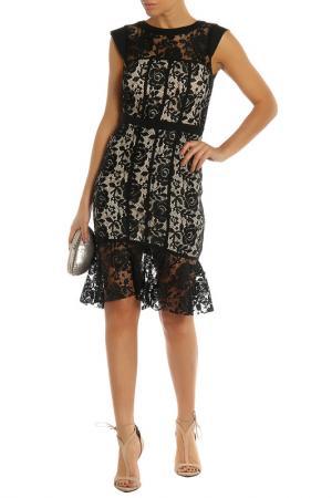 Платье PAPER DOLLS. Цвет: black, beige