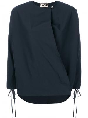 Блузка с запахом Hache. Цвет: синий