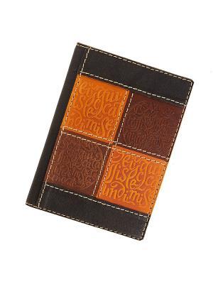 Обложка для паспорта Кажан. Цвет: светло-коричневый, рыжий