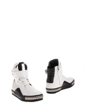 Высокие кеды и кроссовки CESARE PACIOTTI. Цвет: белый