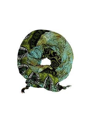 Платок Оланж Ассорти. Цвет: зеленый