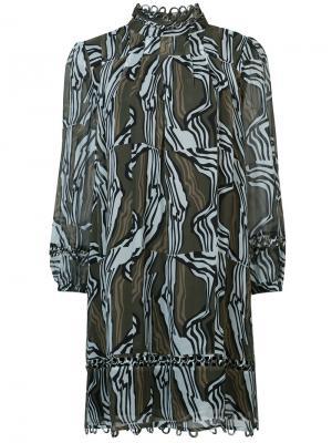 Платье с высокой горловиной Apiece Apart. Цвет: зелёный