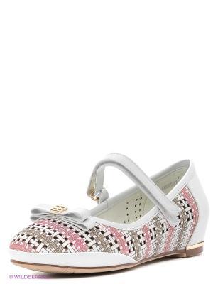 Туфли Mursu. Цвет: белый, бежевый, розовый