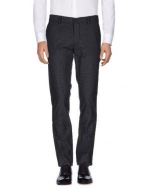 Повседневные брюки THE EDITOR. Цвет: стальной серый