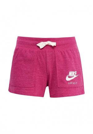 Шорты спортивные Nike. Цвет: фуксия