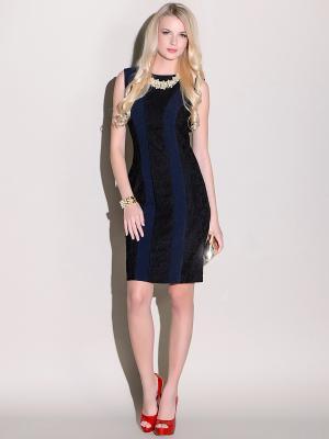 Платье Stets. Цвет: черный, синий