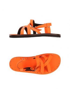 Сандалии DSQUARED2. Цвет: оранжевый