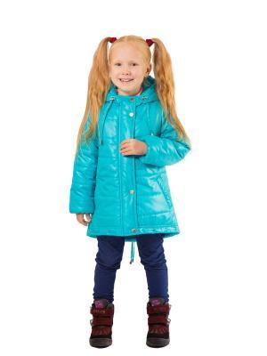 Пальто SAIMA. Цвет: бирюзовый
