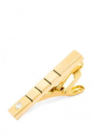Зажим для галстука Greg. Цвет: золотой