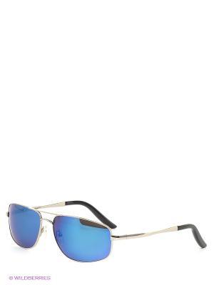 Солнцезащитные очки Selena. Цвет: синий, серебристый