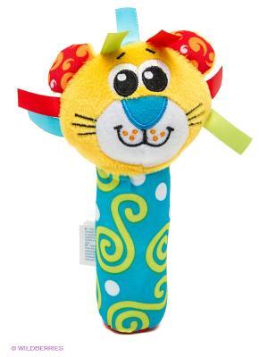 Playgro игрушка-пищалка Лев. Цвет: желтый, голубой
