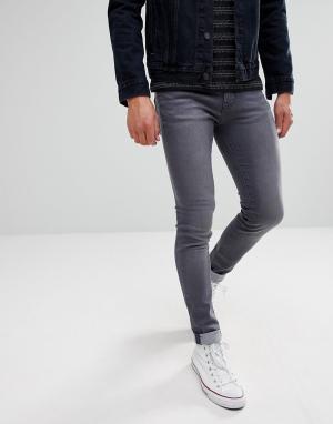 Waven Темно-серые джинсы скинни. Цвет: серый