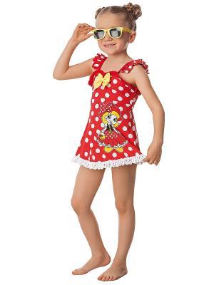 Купальник для девочек Arina. Цвет: красный
