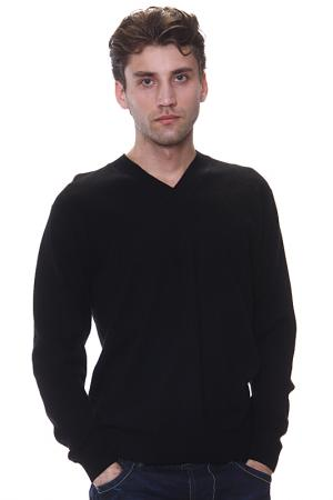 Джемпер с V-вырезом Expression. Цвет: черный