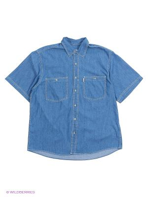 Рубашка Westrenger. Цвет: синий