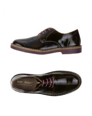 Обувь на шнурках WALLY WALKER. Цвет: темно-коричневый