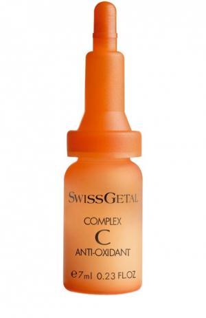 Комплексная сыворотка для защиты кожи Swissgetal. Цвет: бесцветный