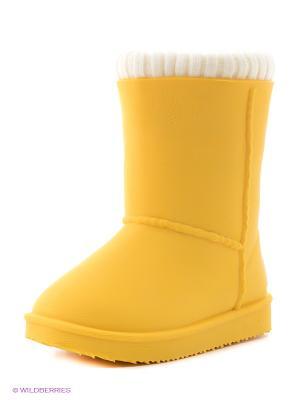 Угги BUNT. Цвет: желтый