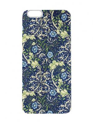 Чехол для iPhone 6 Сине-зеленый пейсли Chocopony. Цвет: синий, зеленый