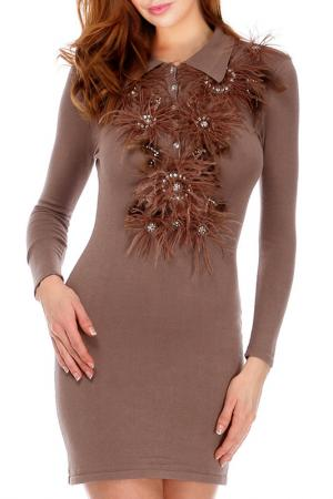 Платье Faust. Цвет: коричневый