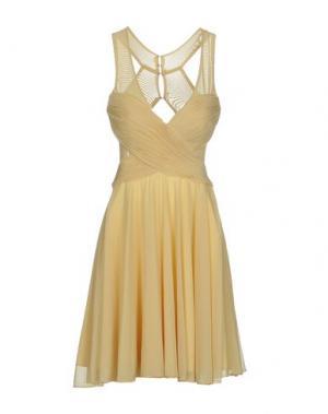 Короткое платье MUSANI COUTURE. Цвет: светло-желтый