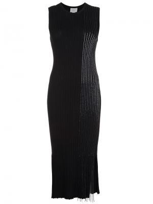Вязаное платье с отделкой стеклярусом Grey Jason Wu. Цвет: чёрный