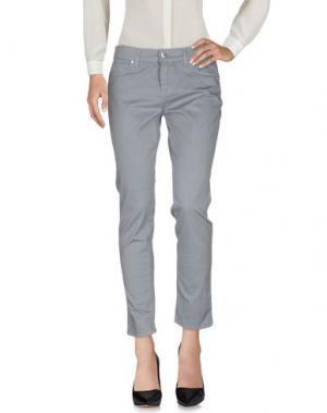 Повседневные брюки BREBIS NOIR. Цвет: светло-серый