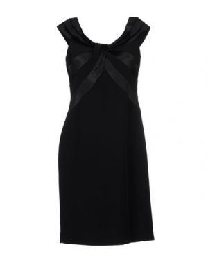 Платье до колена MUSANI COUTURE. Цвет: черный