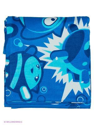 Детское пончо Poncho Mad Babbles Wave. Цвет: голубой