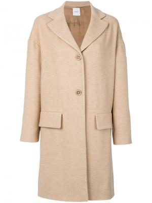 Пальто с карманами клапанами Agnona. Цвет: телесный