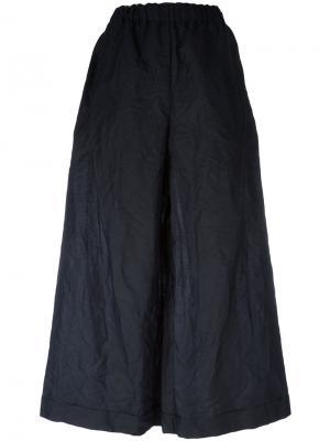 Укороченные брюки с эластичным поясом Daniela Gregis. Цвет: чёрный