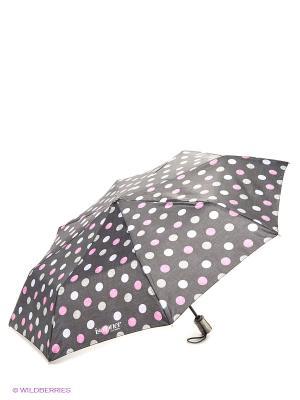 Зонт Isotoner. Цвет: темно-серый, голубой, серый, фуксия