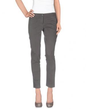 Повседневные брюки REBEL QUEEN. Цвет: свинцово-серый