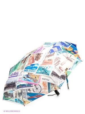 Зонт Flioraj. Цвет: бежевый, голубой