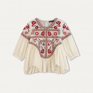 Блузка RAJI ANTIK BATIK. Цвет: кремовый