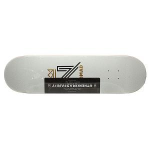 Дека для скейтборда  Og Logo White Deck 32.125 x 8.5 (21.6 см) Nomad. Цвет: белый