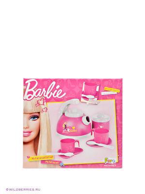 Набор для завтрака Барби FARO. Цвет: розовый