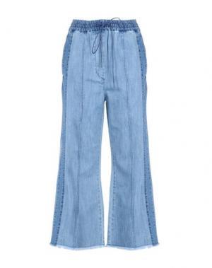 Джинсовые брюки LUCKY CHOUETTE. Цвет: синий