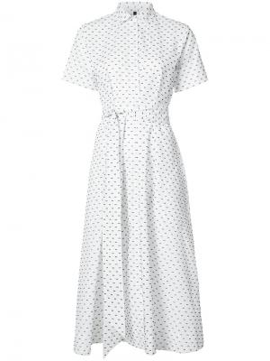Платье-рубашка в горох Lisa Marie Fernandez. Цвет: белый
