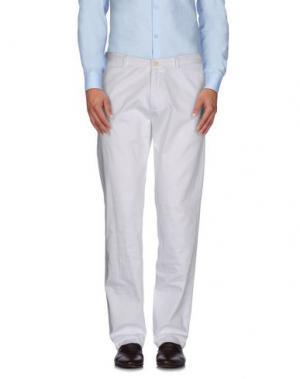 Повседневные брюки HOTEL. Цвет: белый