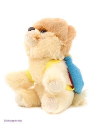Игрушка мягкая Itty Bitty Boo With Backpack Gund. Цвет: светло-коричневый, светло-бежевый, красный