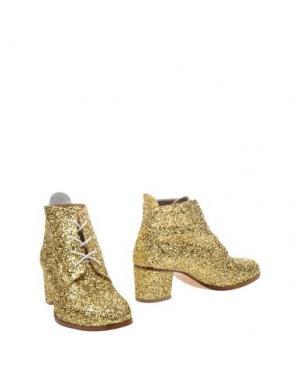 Полусапоги и высокие ботинки L'F SHOES. Цвет: золотистый