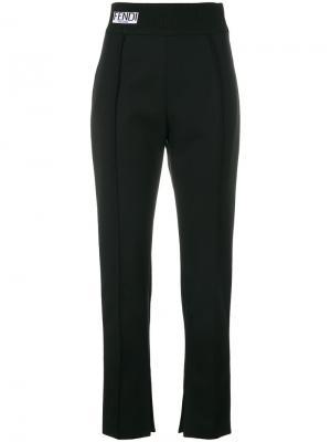 Классические укороченные брюки Fendi. Цвет: чёрный