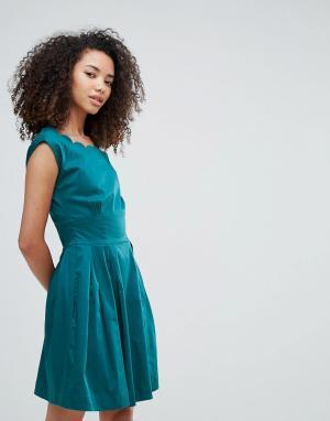 Louche Платье с фигурными краями Julita. Цвет: зеленый