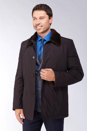 Удлиненная куртка на меху для мужчин Bos Bison. Цвет: черный